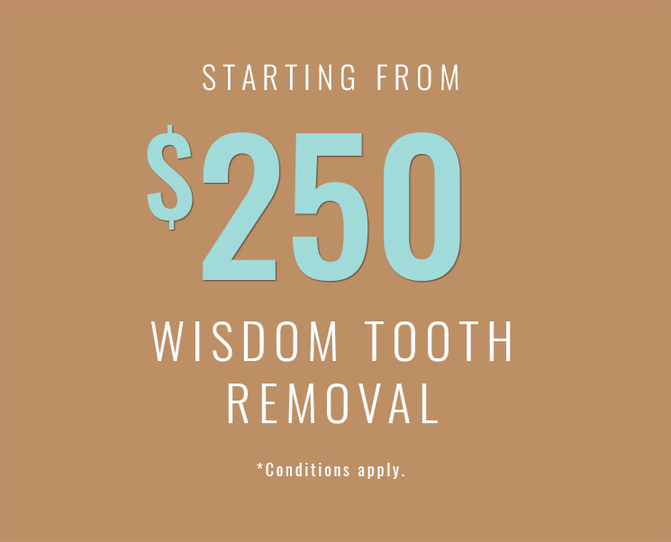 Image of offer from $250 wisdom tooth removal